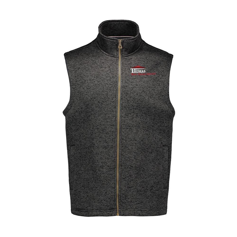 MV Sport® Men's Weatherproof Vintage Sweaterfleece Vest - Personalization Available