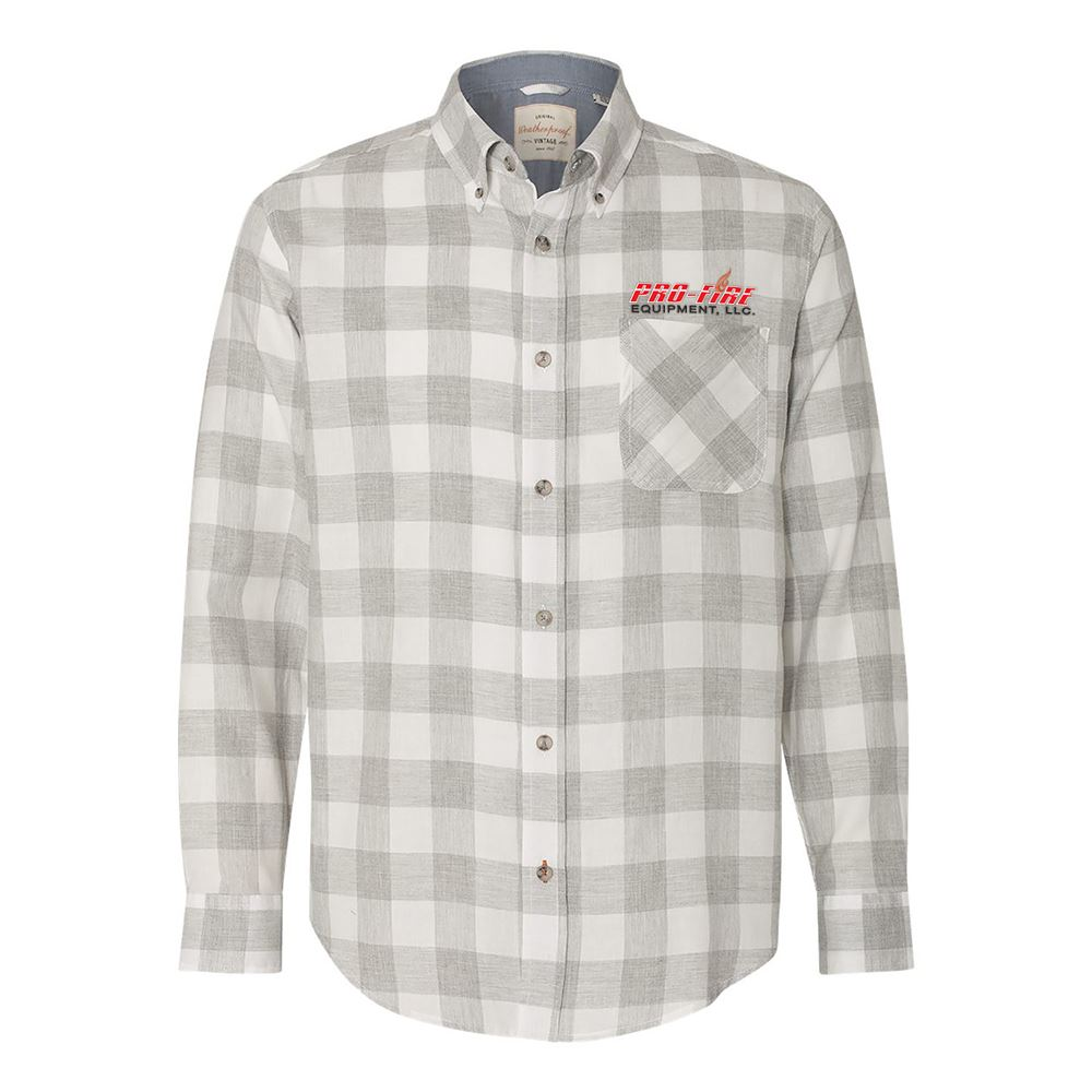 MV Sport® Men's Weatherproof Vintage Brushed Flannel Long Sleeve Shirt - Personalization Available
