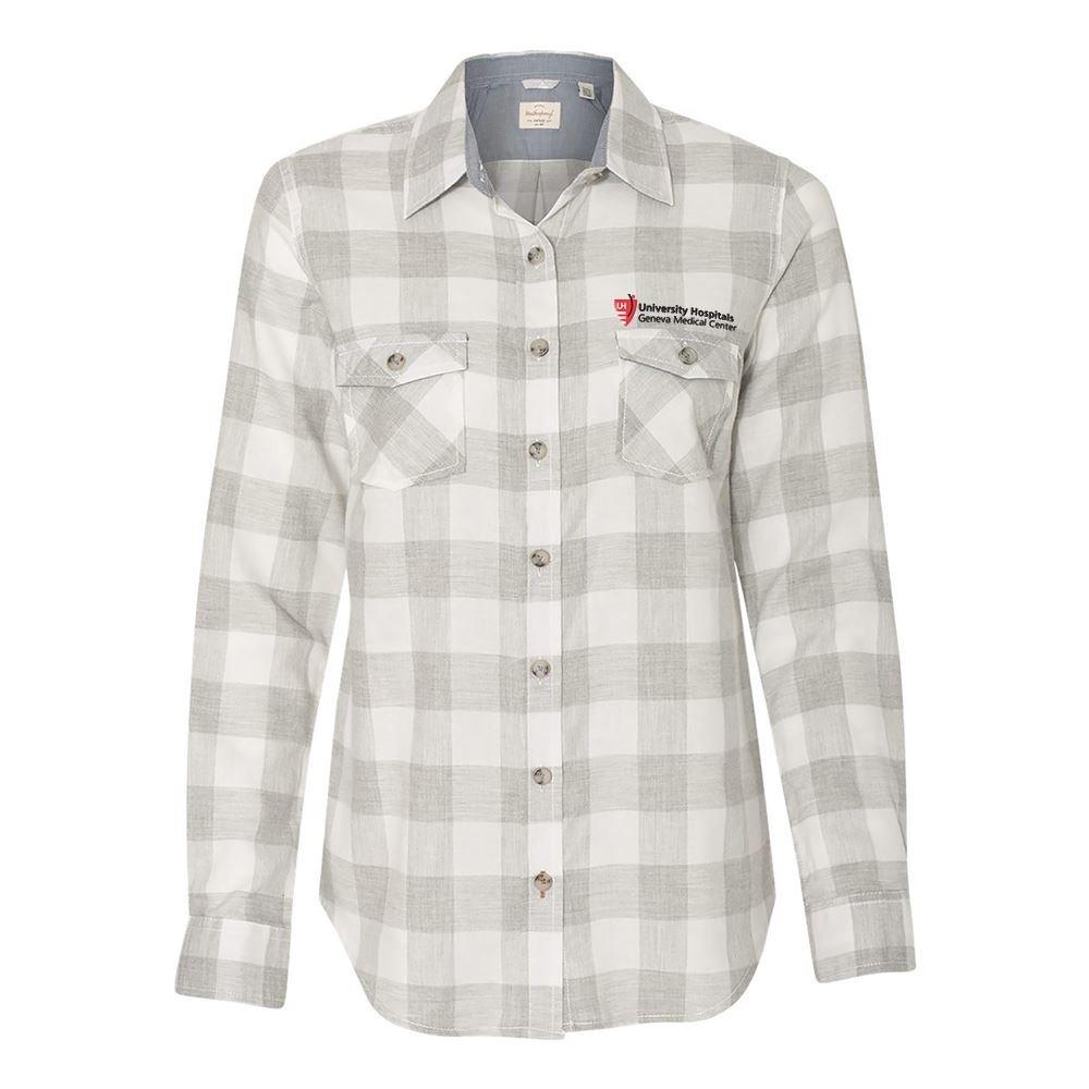 MV Sport® Women's Weatherproof® Vintage Brushed Flannel Long Sleeve Shirt - Personalization Available