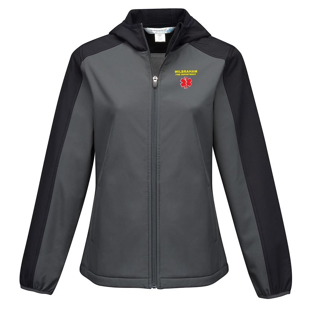 Tri-Mountain® Women's Bonded Soft Shell Hooded Jacket - Personalization Available