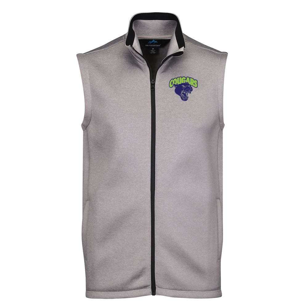 Tri-Mountain® Men's Layer Knit Vest Jacket - Personalization Available