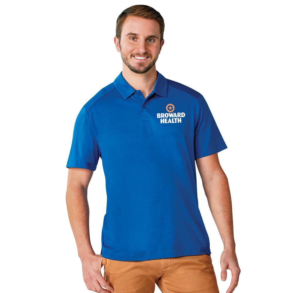 Elevate® Men's Amos Eco Short Sleeve Polo - Personalization Available