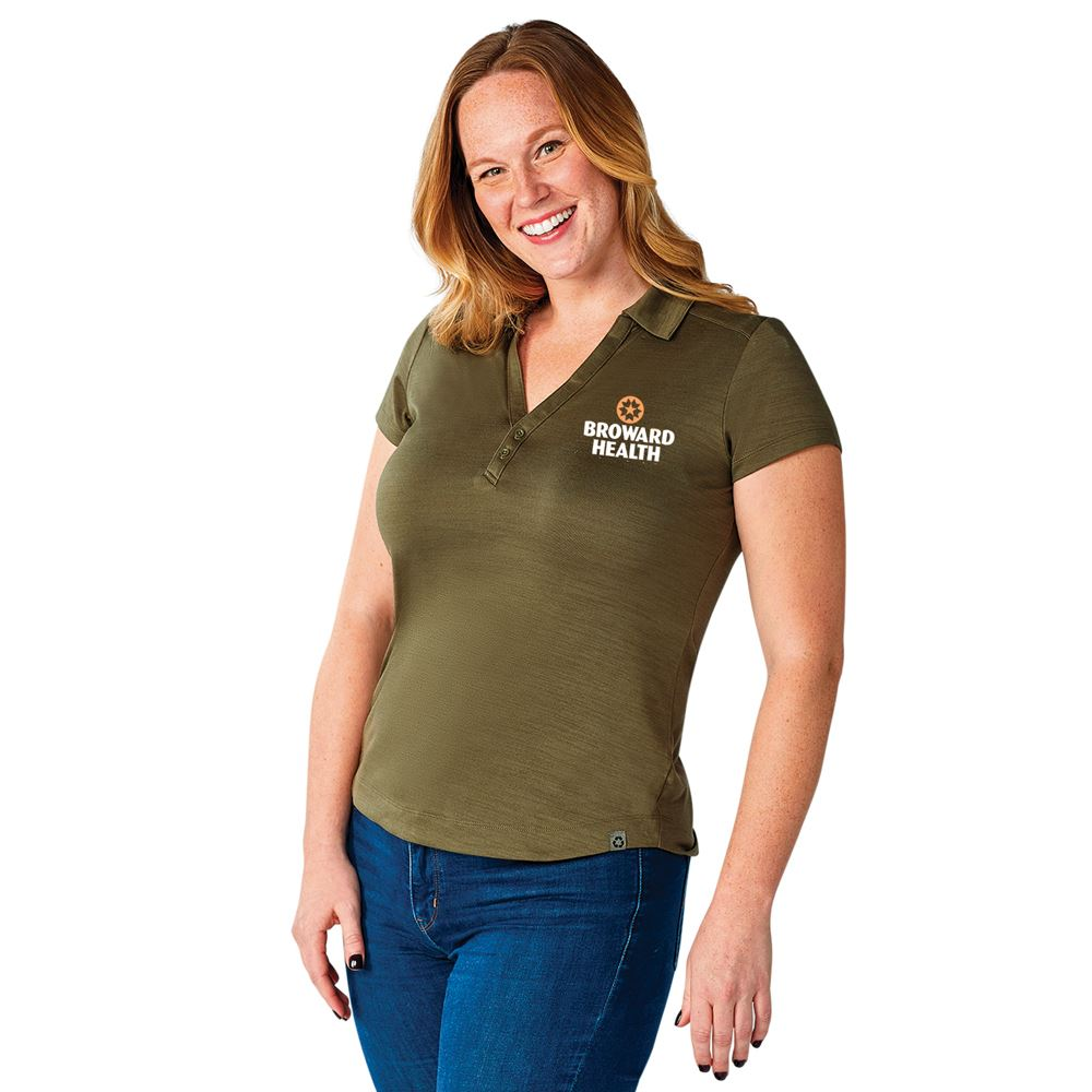 Elevate® Women's Amos Eco SS Polo - Personalization Available