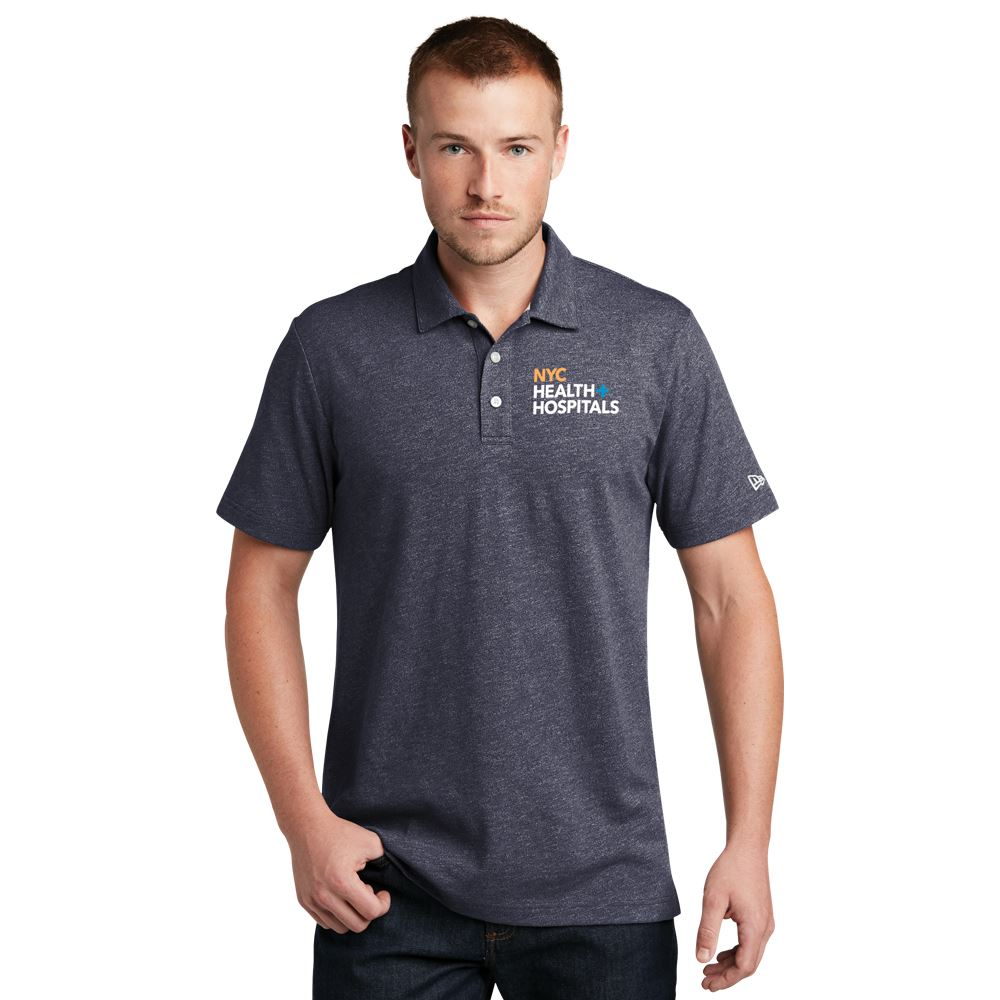 New Era® Men's Heather Twist Polo Shirt - Embroidery Personalization Available