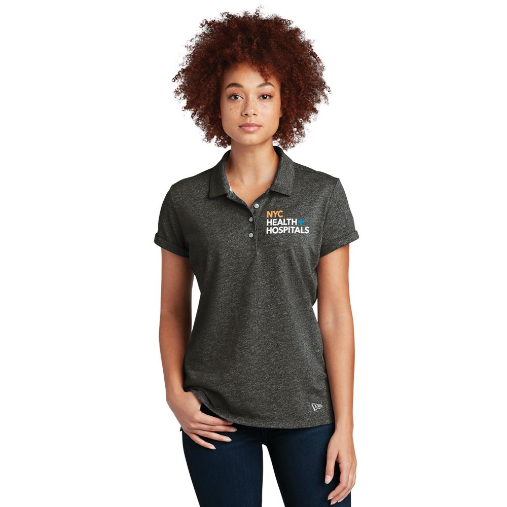New Era® Women's Heather Twist Polo Shirt - Embroidery Personalization Available