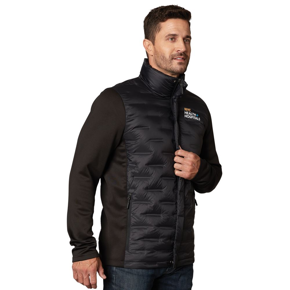 Fossa Apparel® Men's Hybrid Puffer Jacket -Embroidered Personalization Available