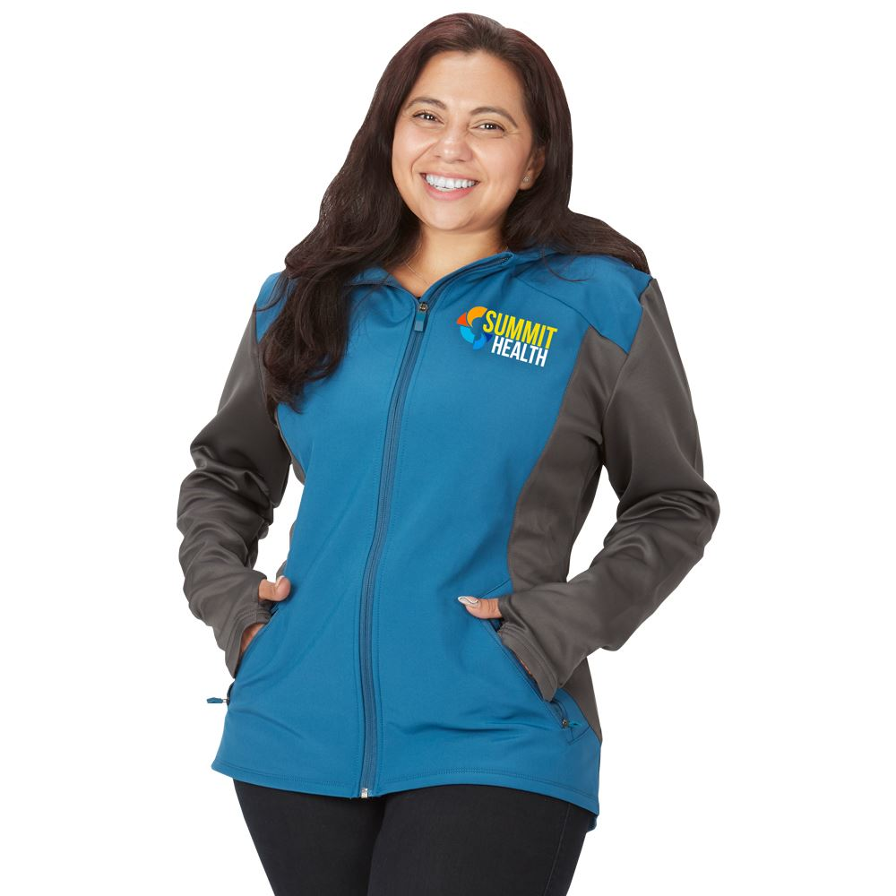 Fossa Apparel® Women's Eclipse Soft Shell Jacket - Embroidery Personalization Available