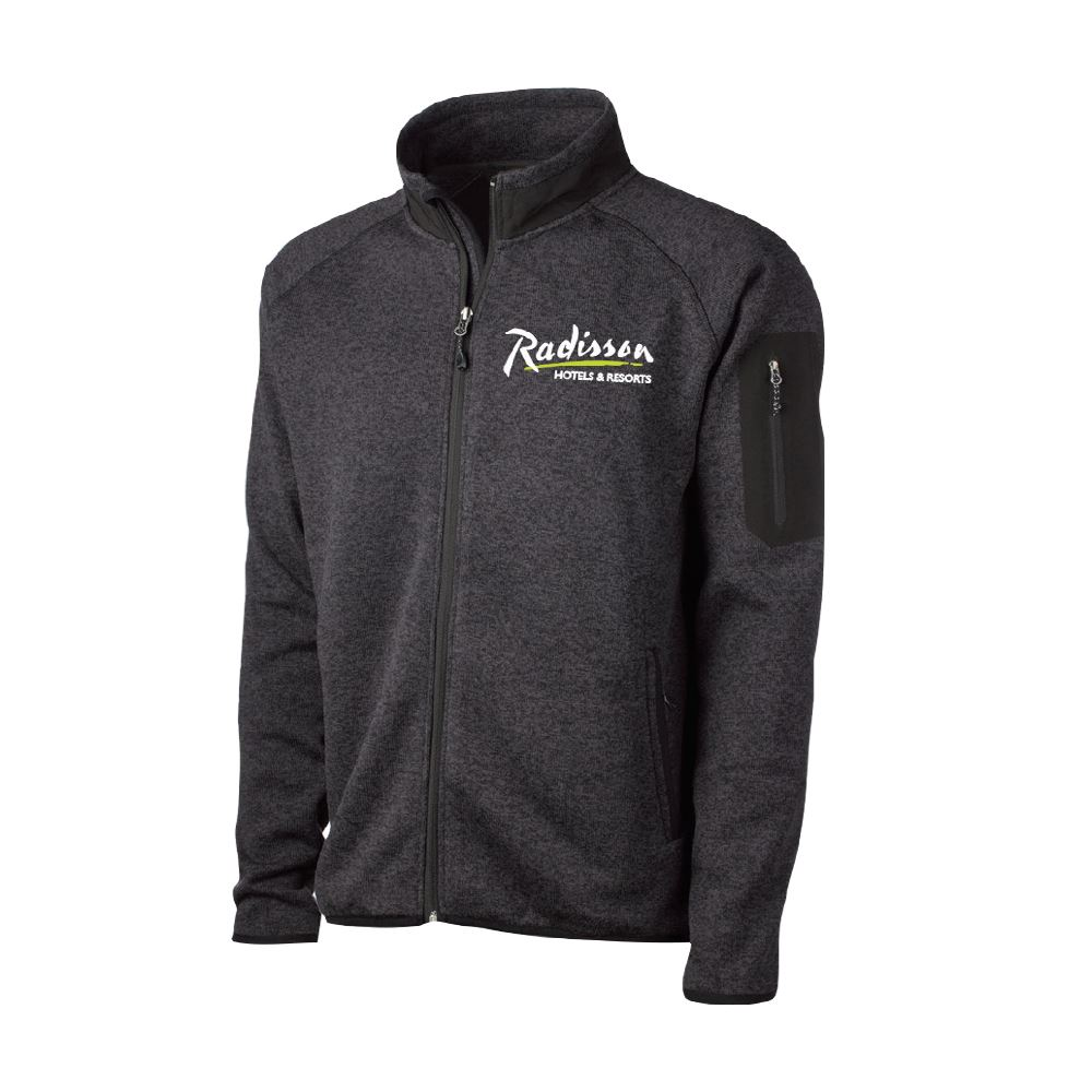 Fossa Apparel® Men's Villa Sweater Fleece Jacket - Embroidered Personalization Available