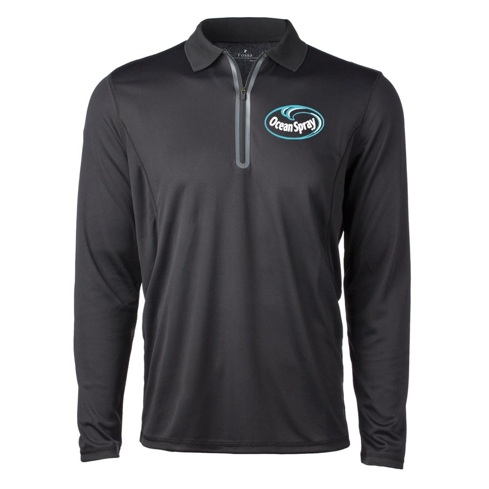 Fossa Apparel® Men's Riviera Long-Sleeve Polo shirt- Embroidery Personalization Available