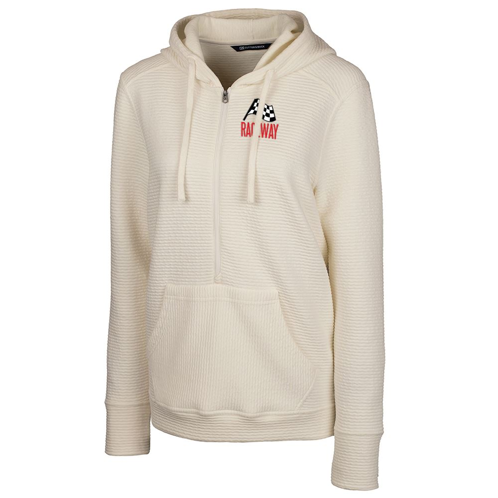 Cutter & Buck® Women's Coastal Half Zip Hoodie - Personalization Available