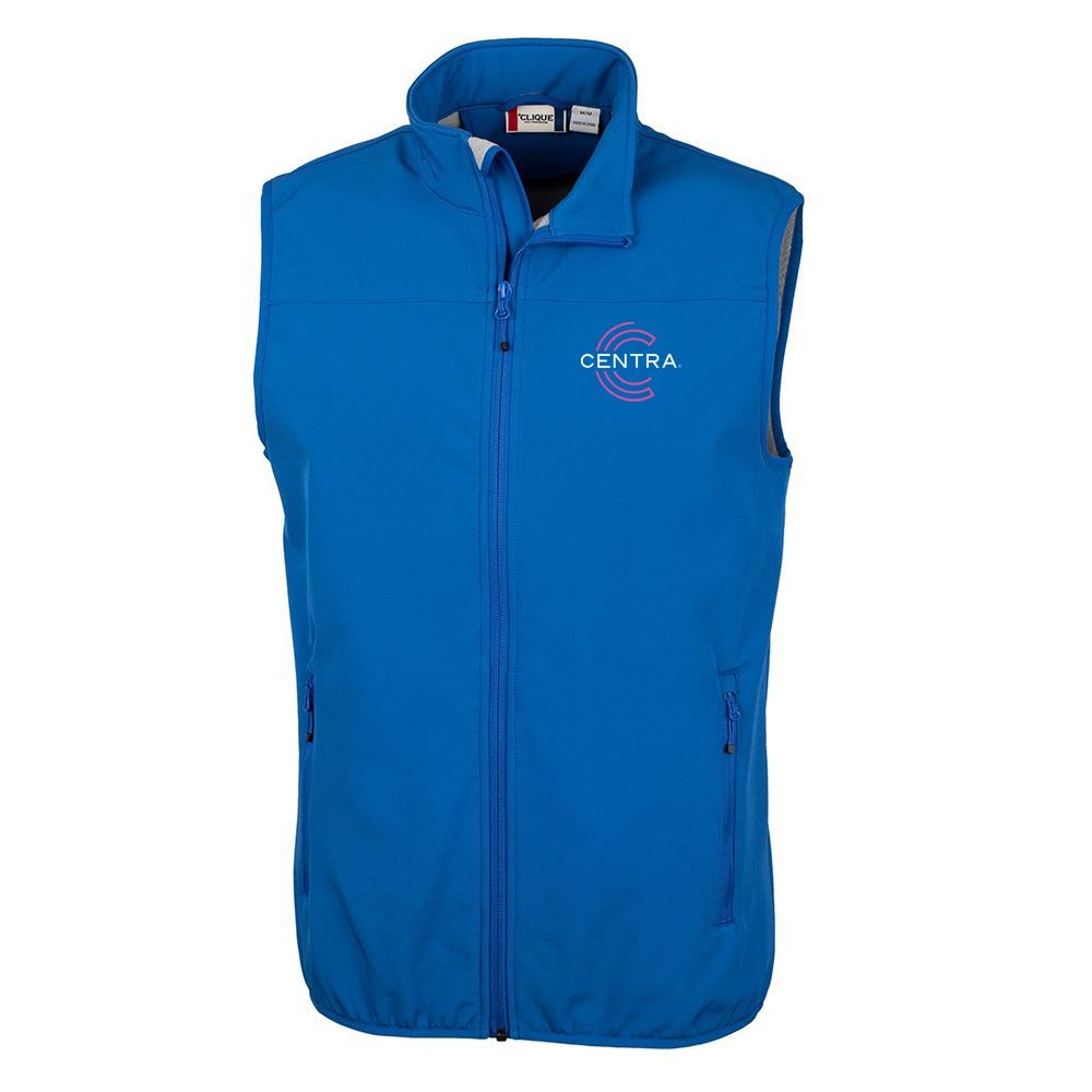 Clique® By Cutter & Buck® Men's Trail Softshell Vest - Personalization Available
