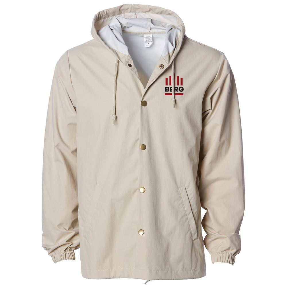 Independent Trading Co.® Adult Water Resistant Hooded Windbreaker Coaches Jacket - Personalization Available