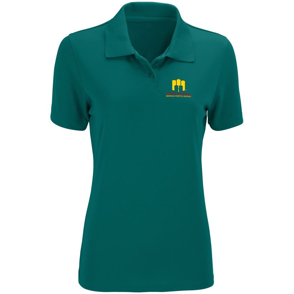 Vansport Women's Omega Solid Mesh Tech Polo - Personalization Available