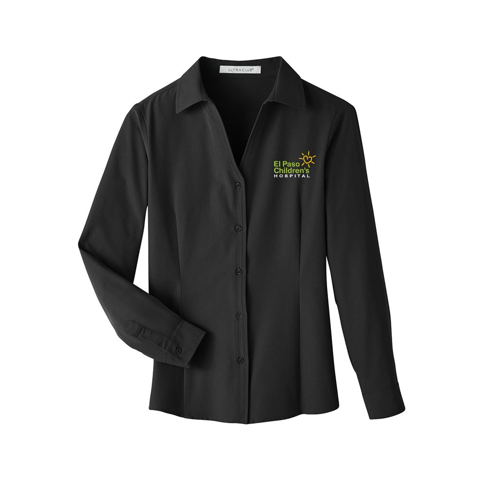 UltraClub Women's Bradley Performance Woven Shirt - Personalization Available