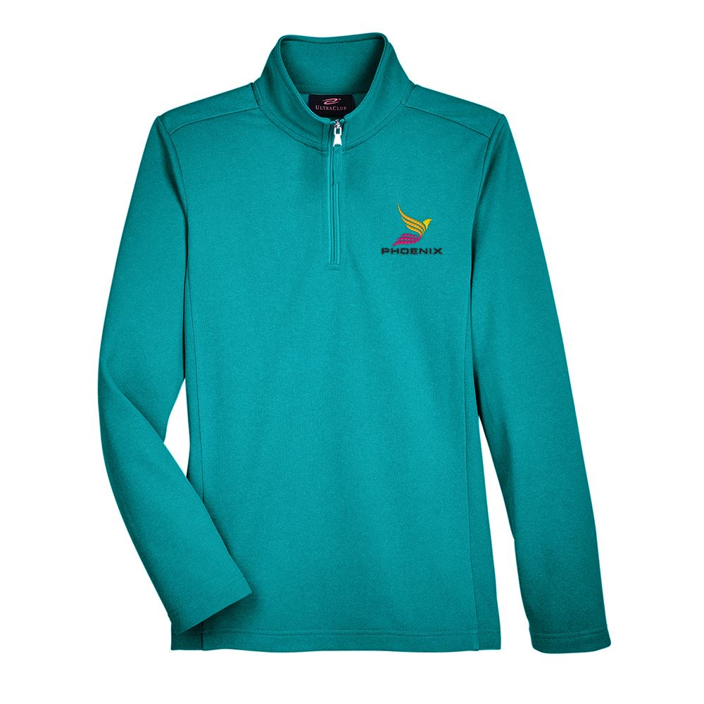 UltraClub Women's Coastal Pique Fleece Quarter-Zip - Personalization Available