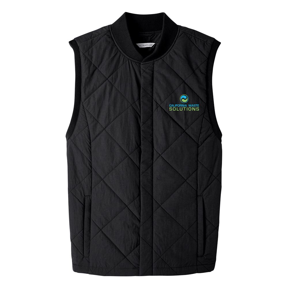 UltraClub Men's Dawson Quilted Hacking Vest - Personalization Available