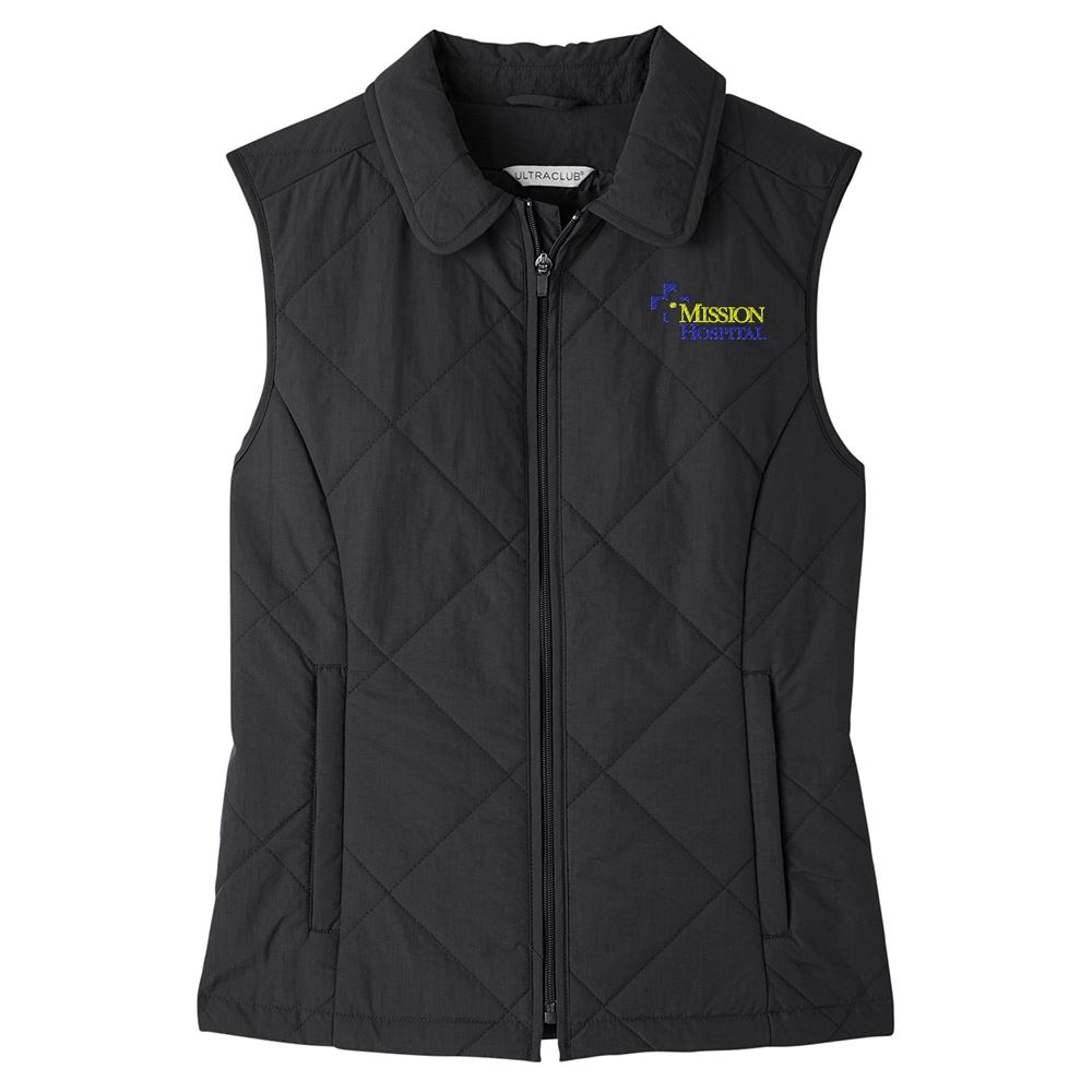 UltraClub Women's Dawson Quilted Hacking Vest - Personalization Available