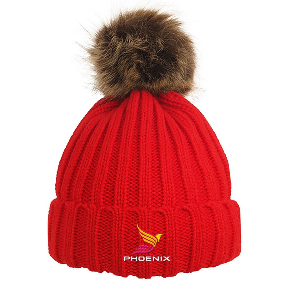 Cable Knit Beanie With Removable Pom - Personalization Available