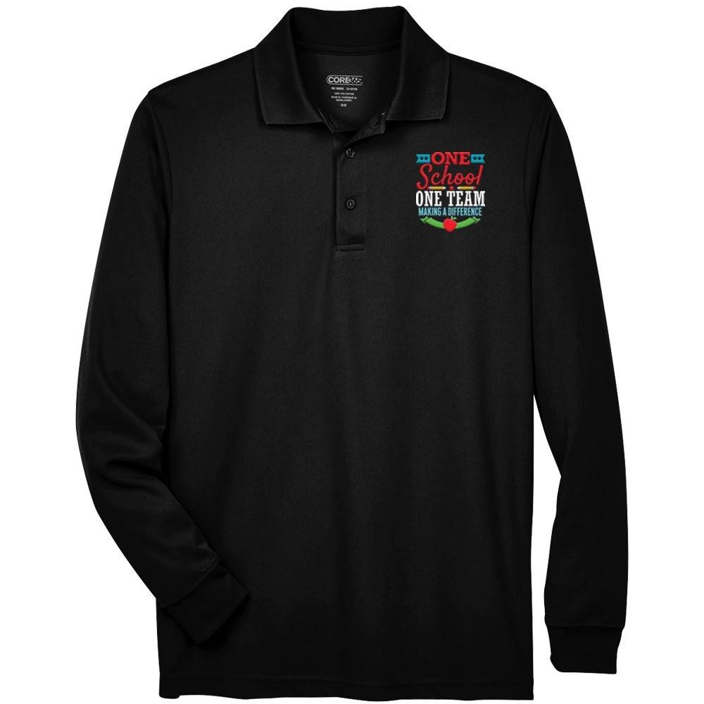 Teachers & Staff Appreciation Core 365™ Men's Long-sleeve Pique Polo - Personalization Optional