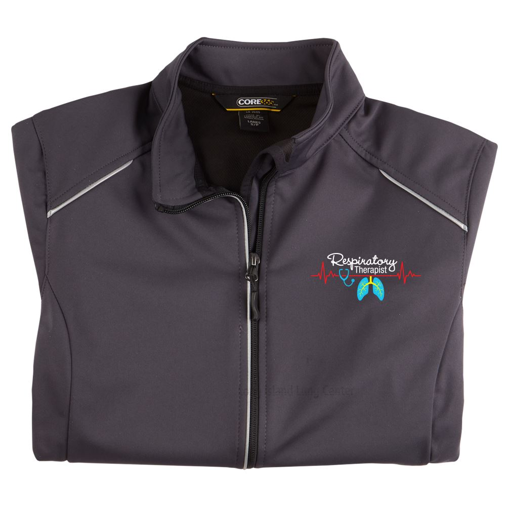 Respiratory Team Womens's Core 365® Three-Layer Knit Full-Zip Jacket - Personalization Available