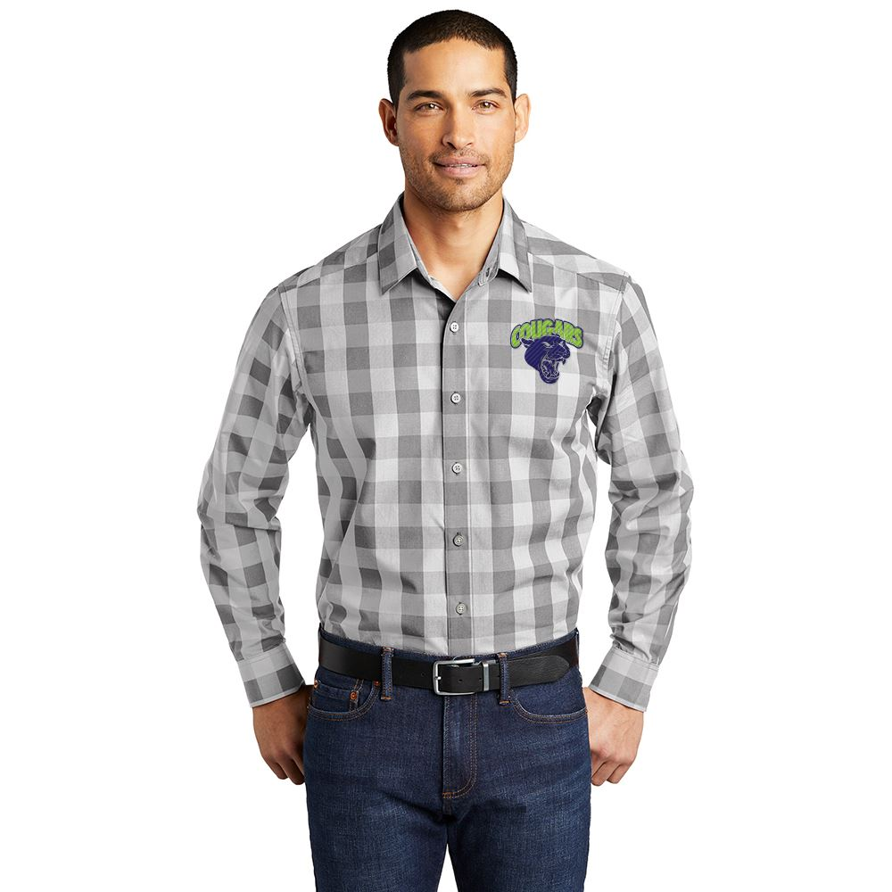 Port Authority® Men's Everyday Plaid Shirt - Personalization Available