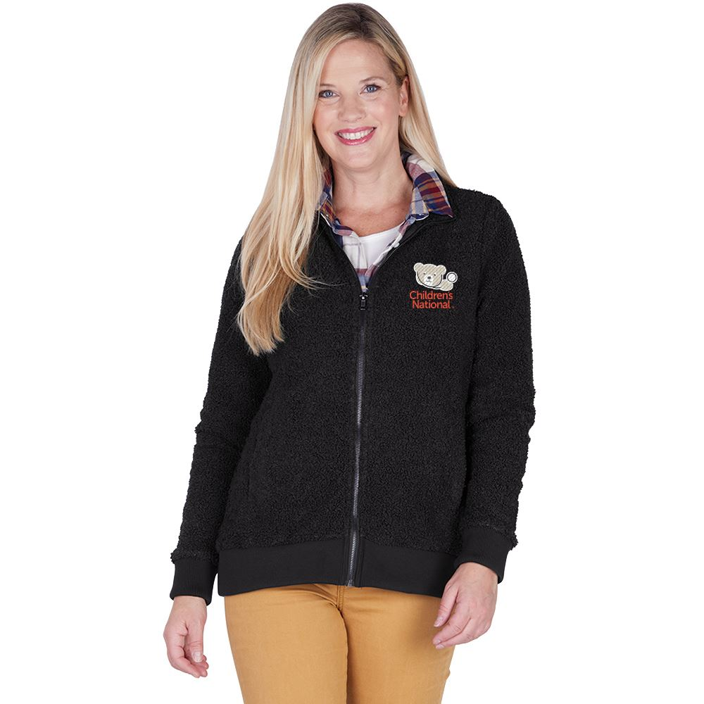 Charles River Apparel Women's Full Zip Sherpa - Embroidered Personalization Available