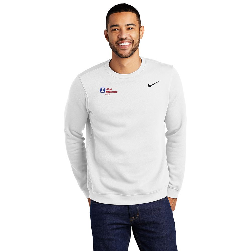 Nike Club Pullover Fleece Crewneck - Embroidery Personalization Available