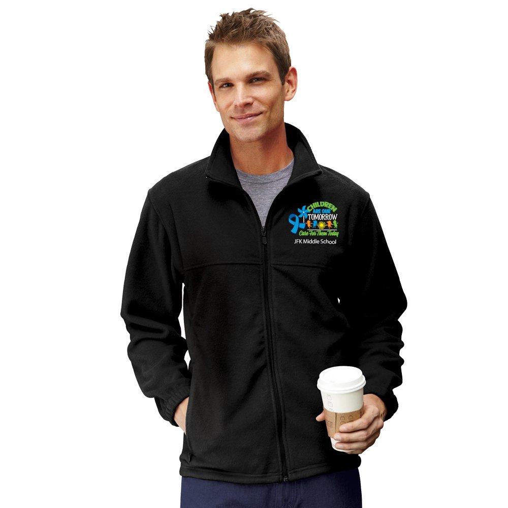 Harriton® Men's Fleece Full-Zip Jacket - Personalization Available