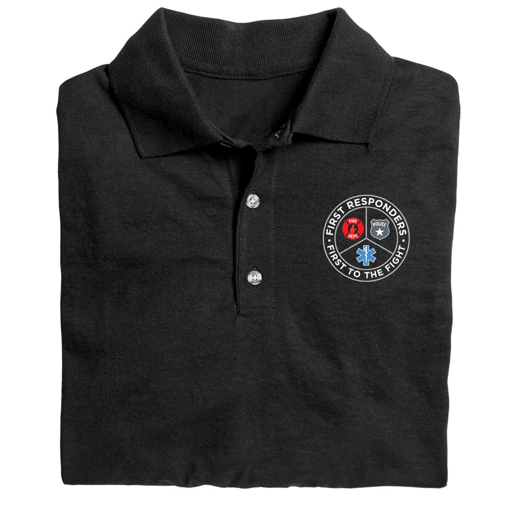 First Responders, First To The Fight Gildan�; DryBlend Jersey Polo�w/ Optional Personalization - Embroidery