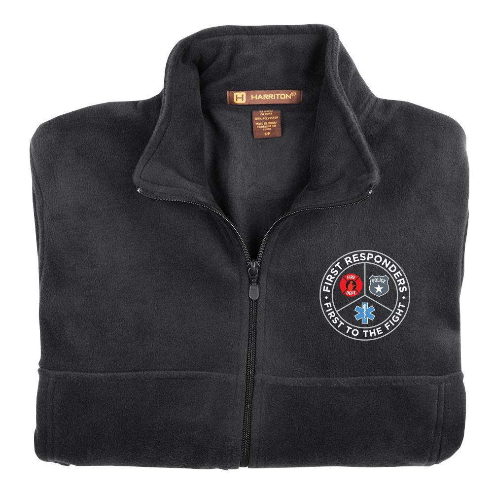 First Responders, First To The Fight Harriton ® Fleece Full-Zip Jacket�w/ Optional Personalization - Embroidery