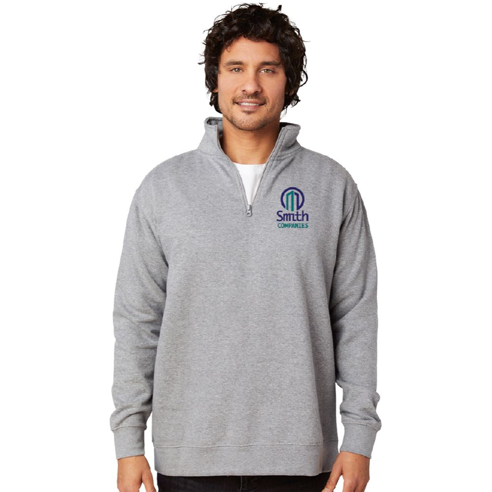 Positive Wear Unisex Essential Quarter-Zip-Cadet Collar Pullover - Embroidery Personalization Available