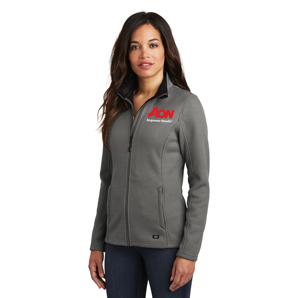 OGIO® Women's Cadet Collar Fleece Jacket- Embroidery Personalization Available