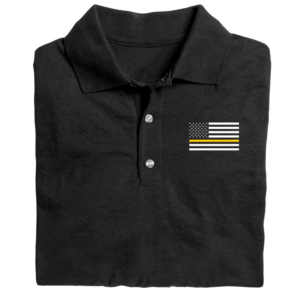 The Thin Gold Line Flag Gildan� DryBlend Jersey Polo�With Optional Personalization - Embroidery