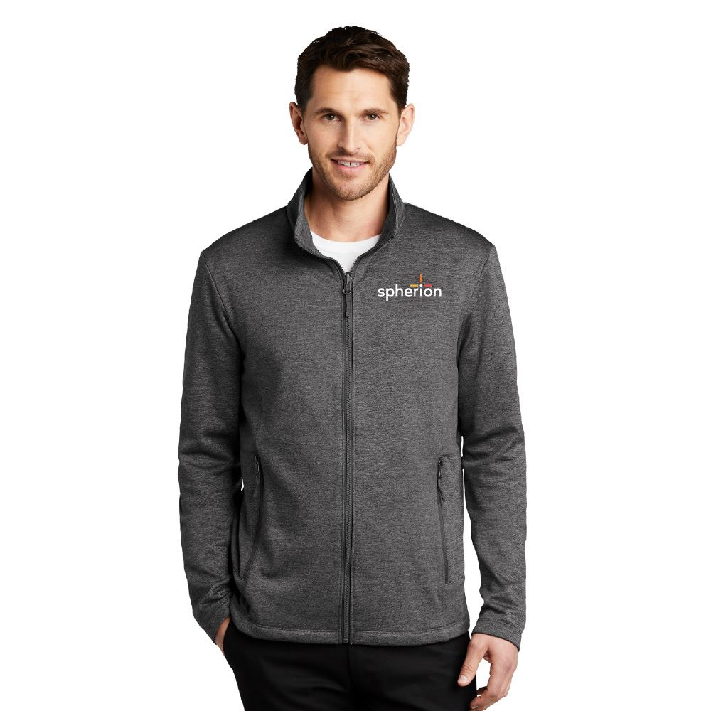 Port Authority® Men's Collective Striated Fleece Jacket - Embroidered Personalization Available