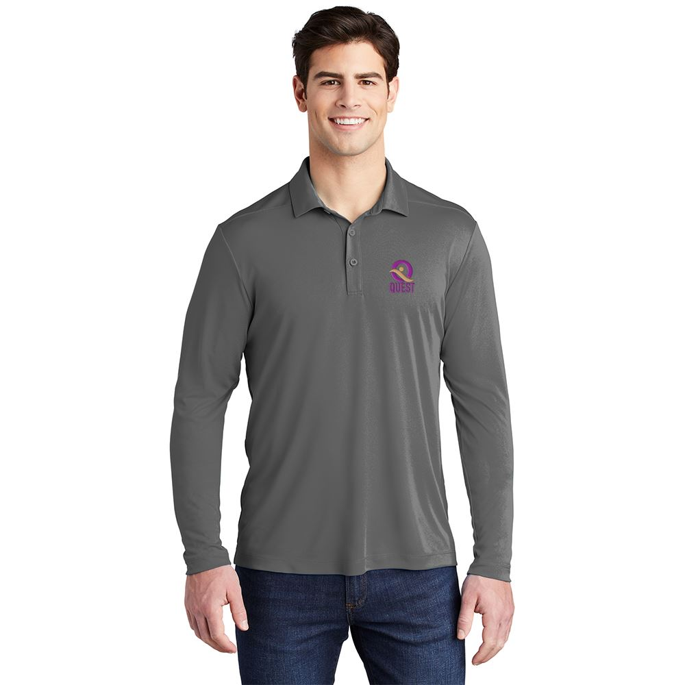 Sport-Tek ® Posi-UV ™ Pro Long Sleeve Polo