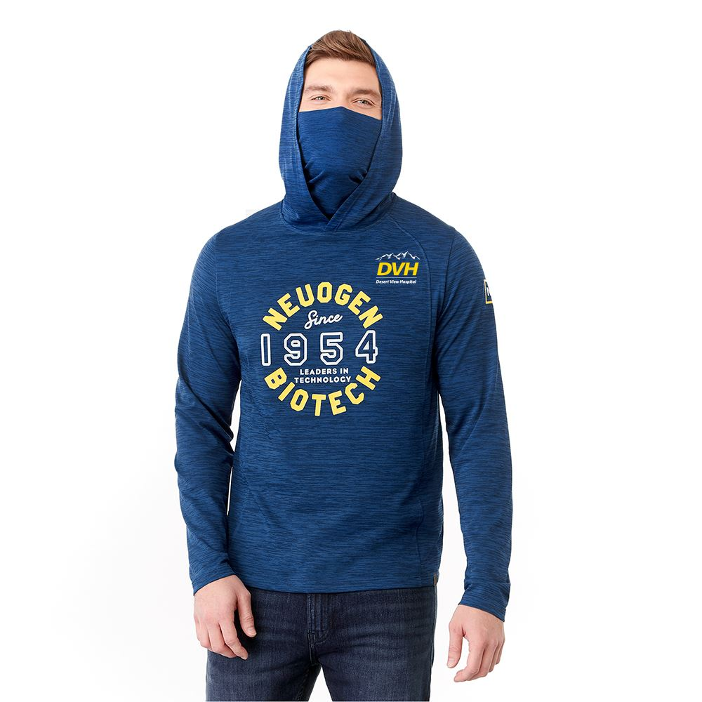 Aiden Men's Eco Knit Hoody With Built In Neck Gaiter- Embroidery Personalization Available