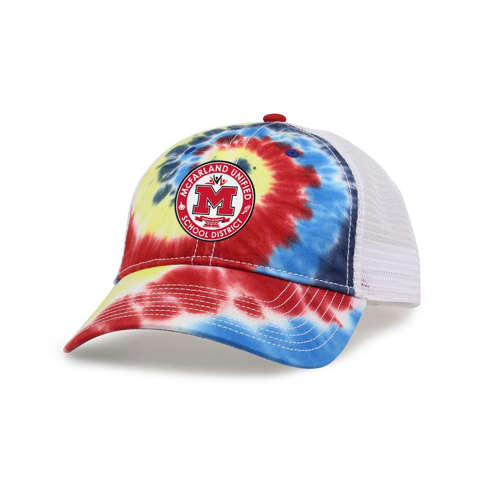 Hamptons Tie Dye Trucker Cap - Embroidery Personalization Available