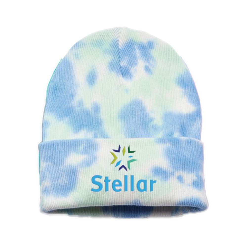Retro Tie-Dyed Knit Beanie- Embroidery Personalization Available