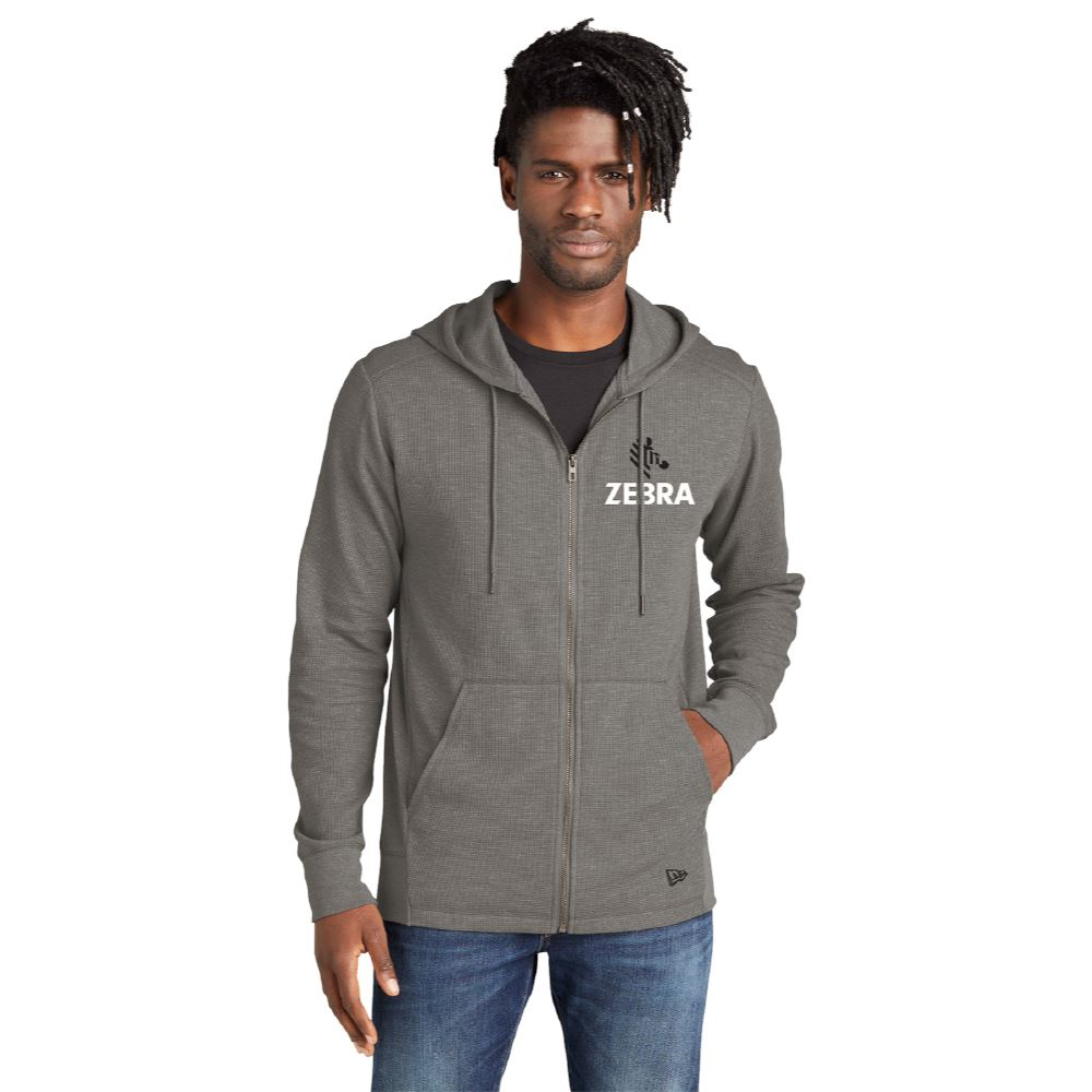 New Era® Men's Thermal Full-Zip Hoodie - Embroidered Personalization Available
