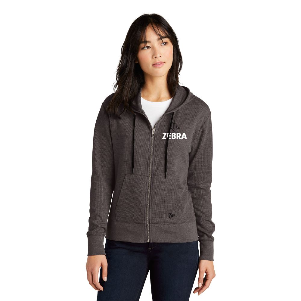 New Era® Women's Thermal Full-Zip Hoodie - Embroidered Personalization Available