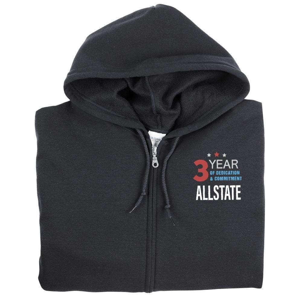 Work Anniversary Gildan® Unisex Heavy Blend™ Full-Zip Hooded Sweatshirt - Embroidered Personalization Available
