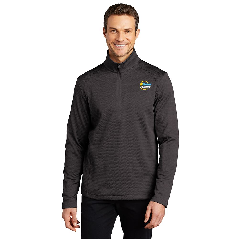 Executive Men's Diamond Heathered Fleece 1/4-Zip Pullover - Embroidered Personalization Available