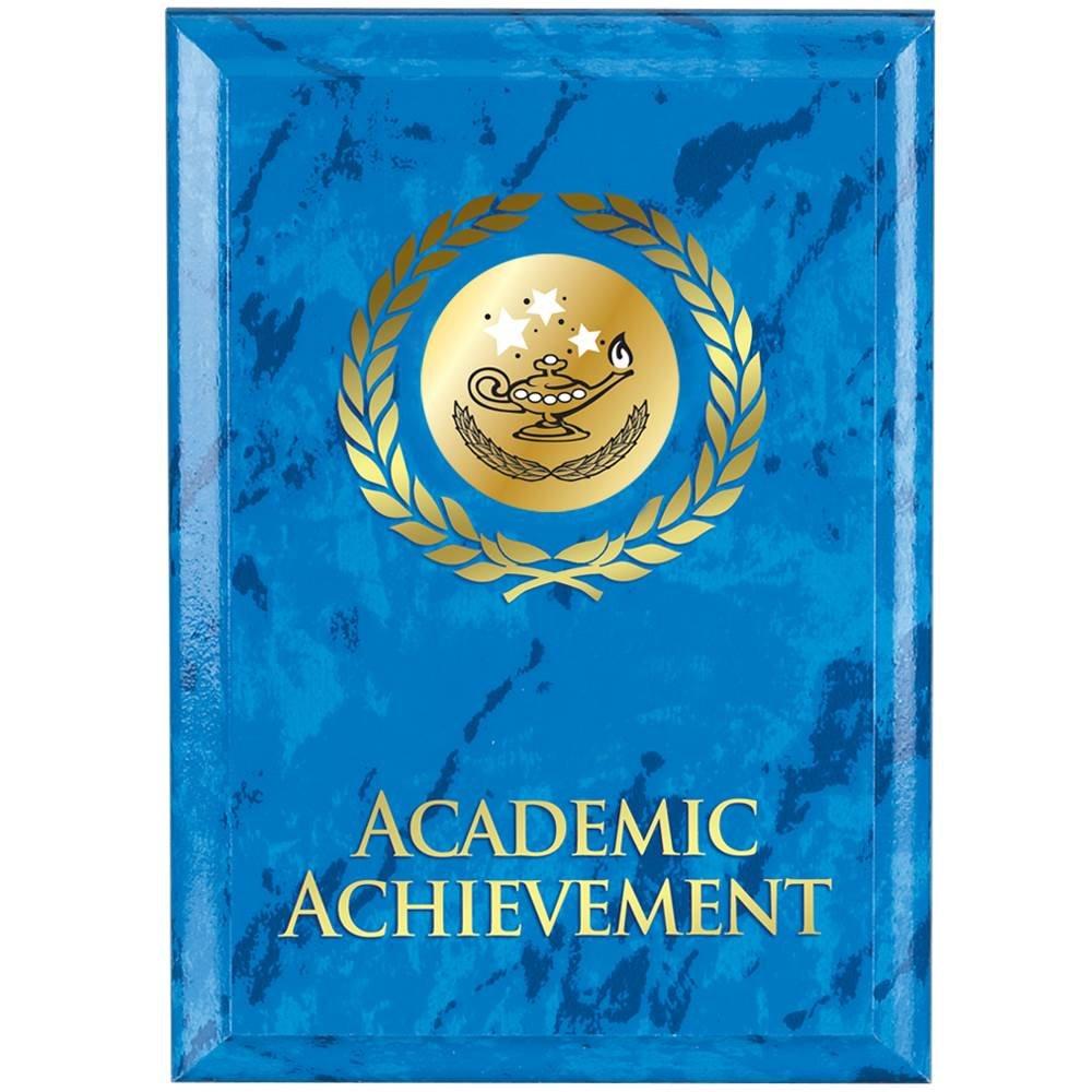 Academic Achievement Blue Marble Award Plaque