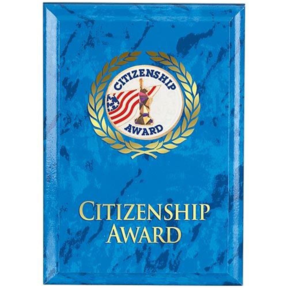Citizenship Award Blue Marble Award Plaque