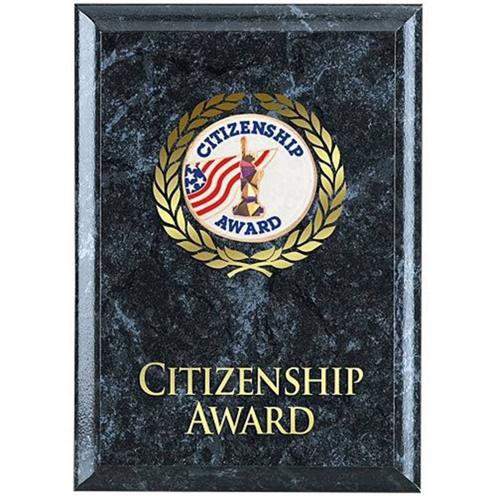 Citizenship Award Black Marble Award Plaque