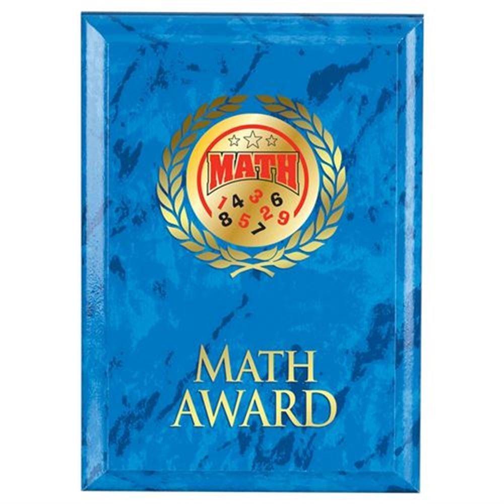 Math Award Blue Plaque