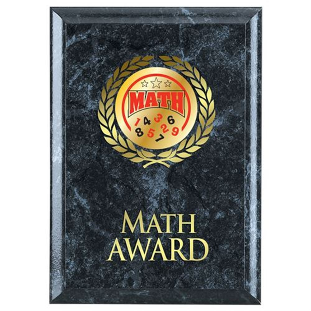Math Award Black Plaque