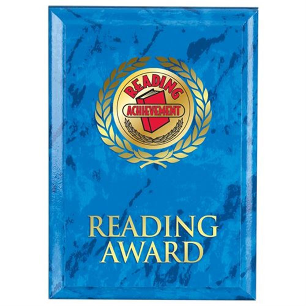 Reading Award Blue Marble Award Plaque
