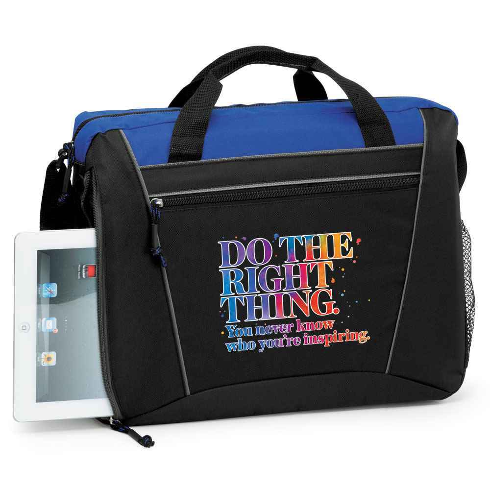 Do The Right Thing. You Never Know Who You're Inspiring Westbury Laptop/Tablet Briefcase Bag