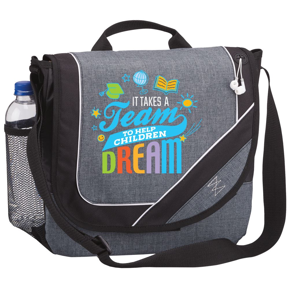 It Takes A Team To Help Children Dream Portland Messenger Bag